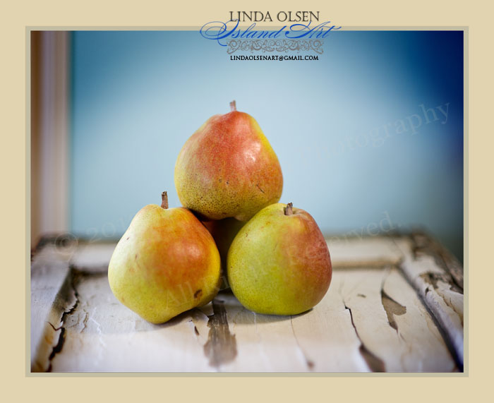 I went back to the original raw photo and reworked the retouching on these. The pears were incredible.