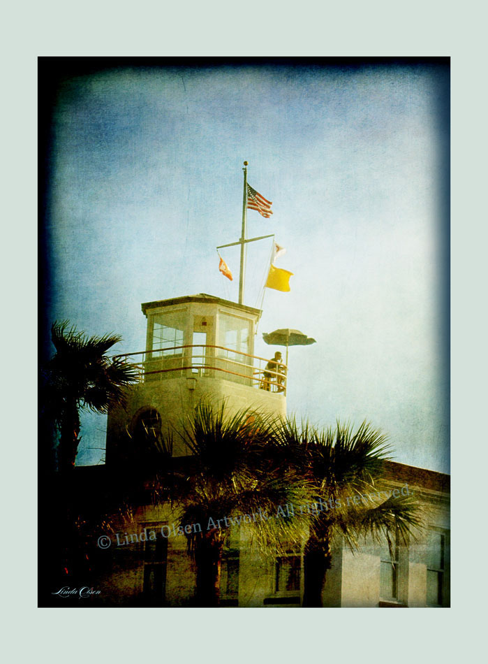 This is our local Jacksonville Beach lifeguard building. Its quite historic as an AMERICAN RED CROSS building which is over a hundred years old.