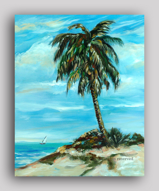 Lone Palm 16x20LO