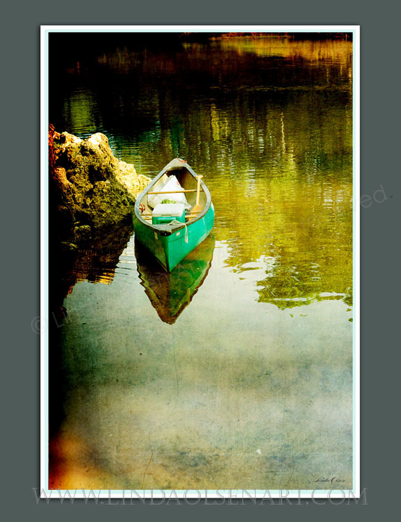 Another view of the canoe. Limited edition metallic prints are available in 16x20 and 11 x 14.