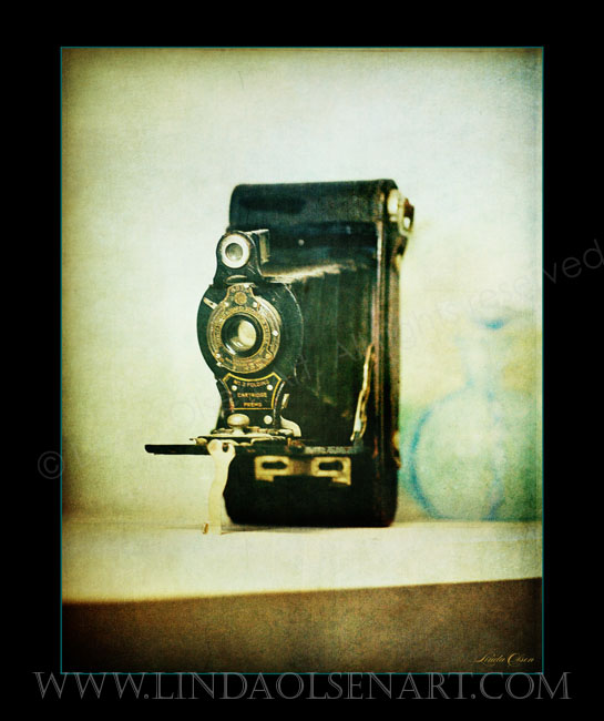 """Wistful Old Camera"" is an image I created from an old camera that was passed down by my grandfather. I would love to actually shoot from it but trying to find film would be ridiculous."