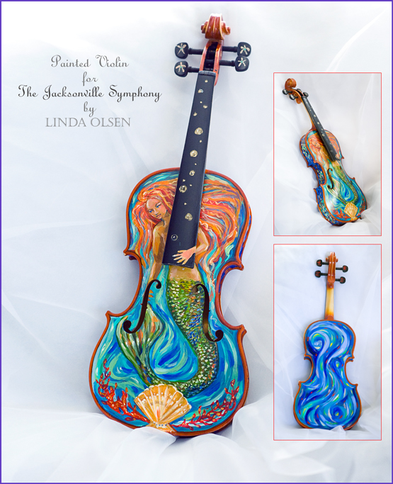 You can own this violin which I painted by bidding on it through the Jacksonville Symphony Guild. 904-358-1479 or JaxSymGuild.com