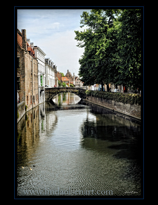 I hand tinted this image of the canal in Brugges. If traveling in Europe, Brugges is a must see. Its famous for its chocolate, Belgium beers and laces...all set in a fairytale setting.
