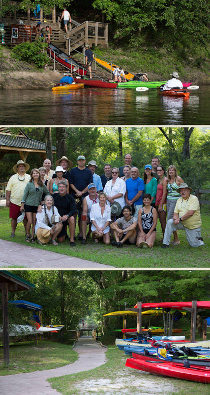"""Last weekend was so much fun. Here is a photo of the group who participated in the Suwannee Bicycle Associations """"Spring Hop"""", 25 mile, 2 day kayak and camping. Thank you Mick Shea for the wonderful shots."""