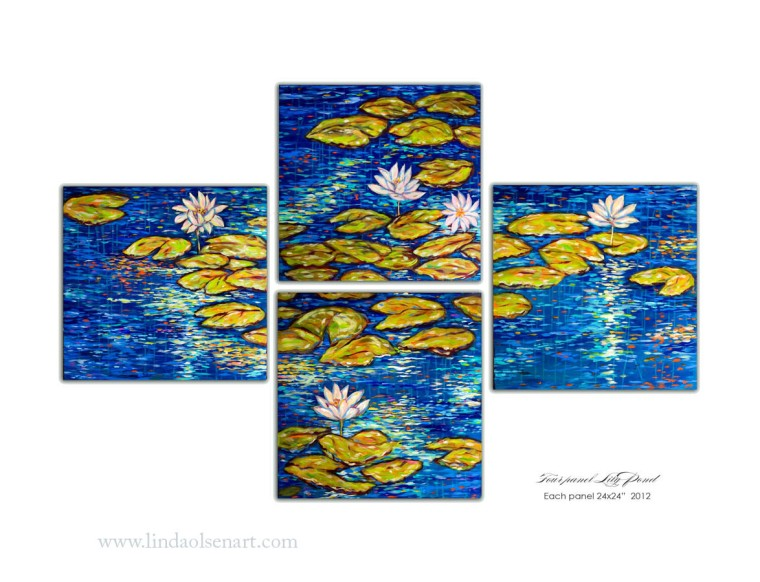 four panel pond 2x2 each