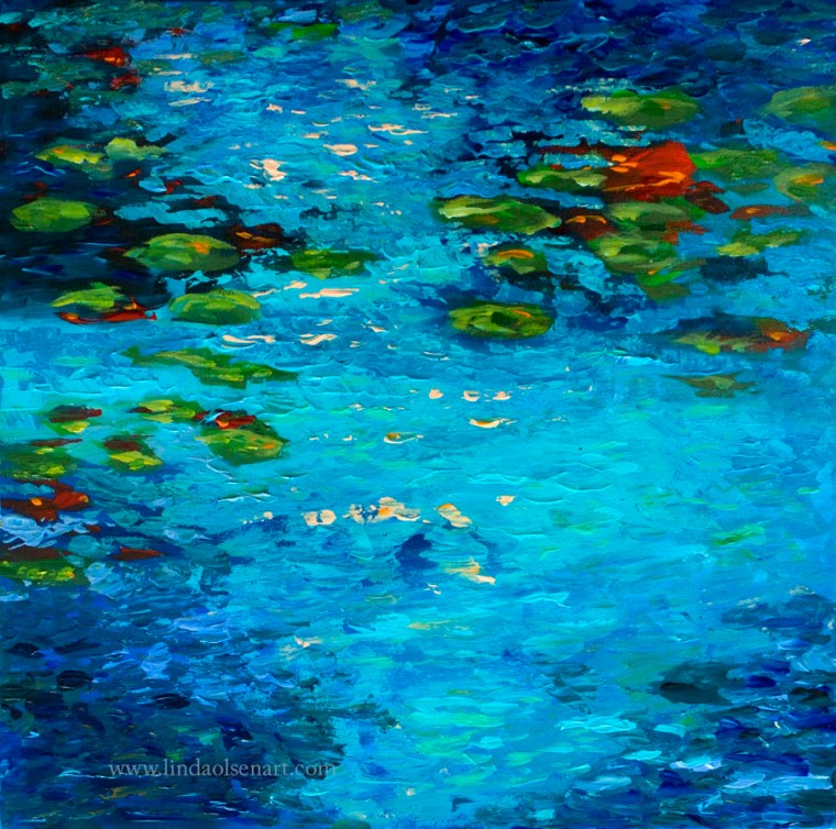 Monet's pond reflection 20x20