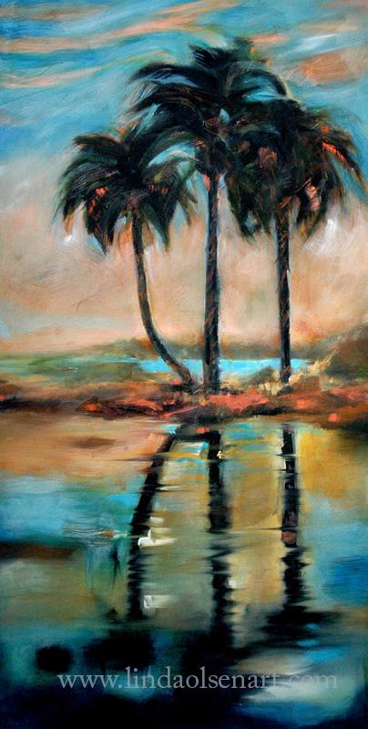 Palm Reflection V  24x48