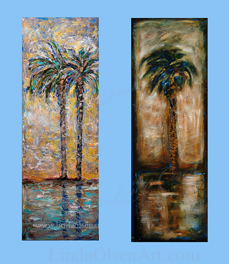 Tall palm Paintings
