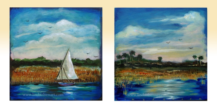 Hird sailboat River12x12