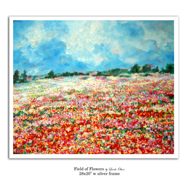 "Last week was a great week for selling some of my original paintings. A gentleman from Orange Park now owns ""Field of Flowers""."