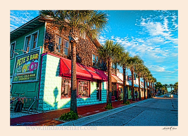 Row of palms by Shorelines