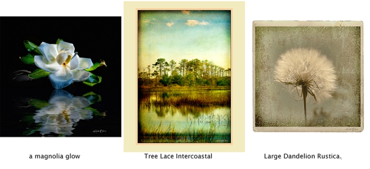 These are the three pieces of mine in this show at Gallery 725.