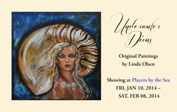 "While ""Beehive"" is running at the local community theater, a couple dozen of my Underwater Divas and other underwater art will be on display/sale in the lobbies. Beehive is sure to be a hit so check it out."
