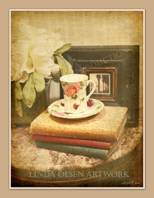 I have a small collection of teacups that are very special to me. They were passed down by my mother and grandmother. I plan on photographing others as time permits.