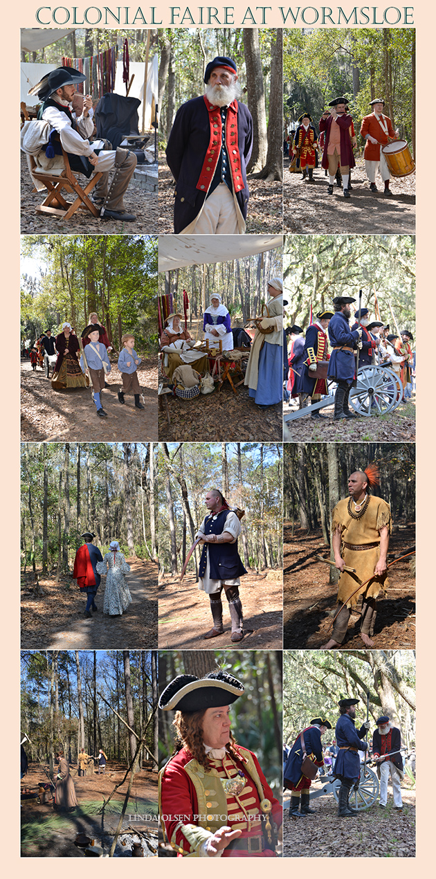 I took off a half day from painting to visit Wormsloe Plantation in Savannah where they were having a Colonial Faire. The costumes and characters were really authentic and I learned a lot about the history of the area in colonial times.