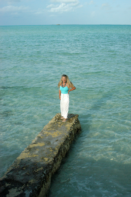 These were shot of me by my husband while shooting a destination wedding in the Bahamas in 2006. Of course I am older now but it was a kick to come across them.