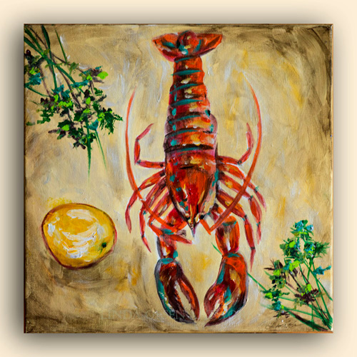 Lobster With Parsley 12x12