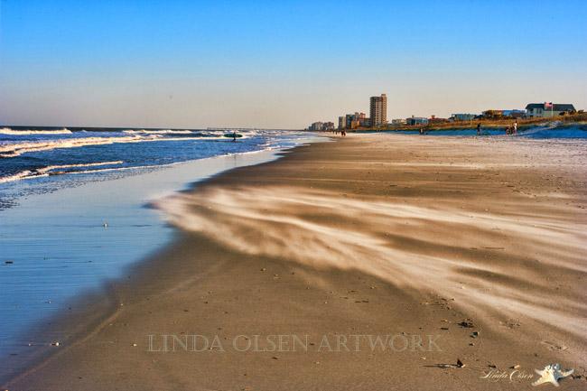 wind on sand