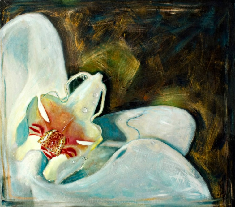 Orchid with Dew 22x32