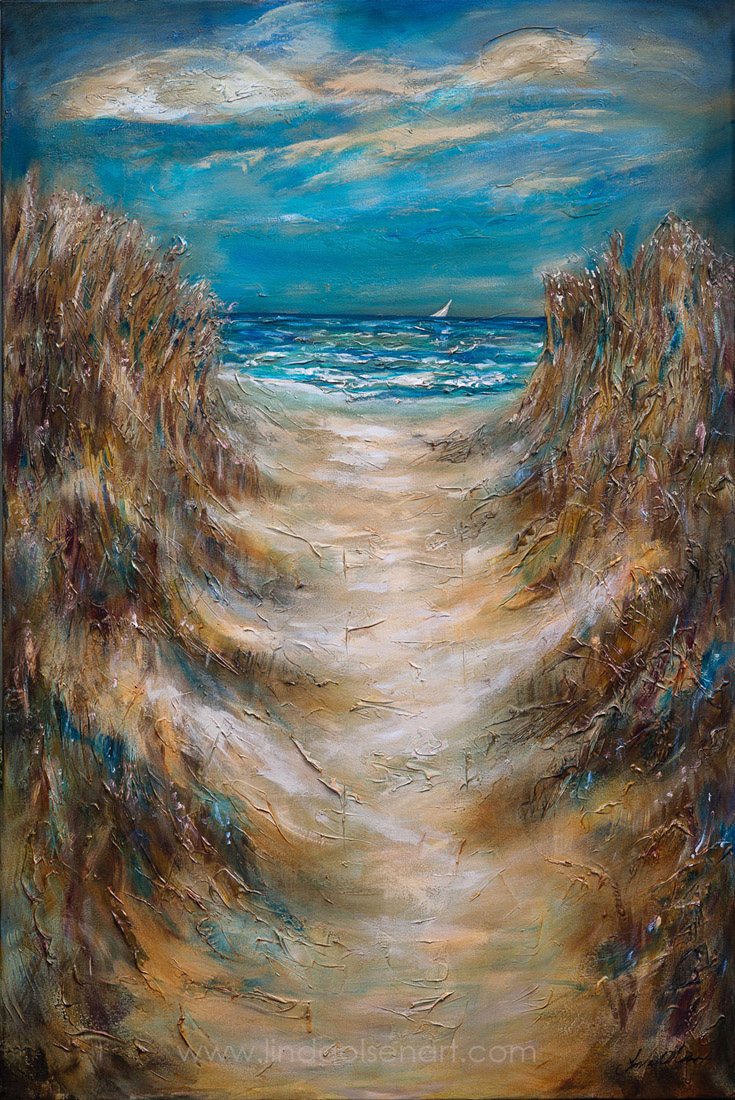 "36x60x1"" large textural painting called ""Pathway Thru Dune II"" I also have a similar 36x48"" piece completed. Wish you could see it in real life."