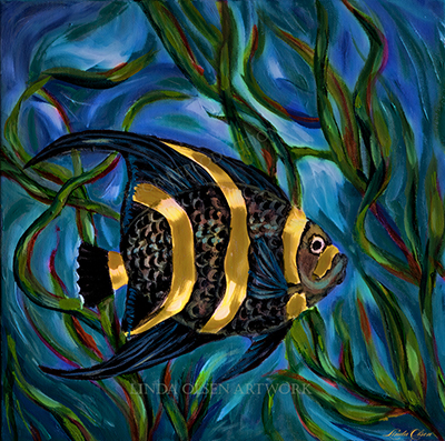 Angel fish illustr