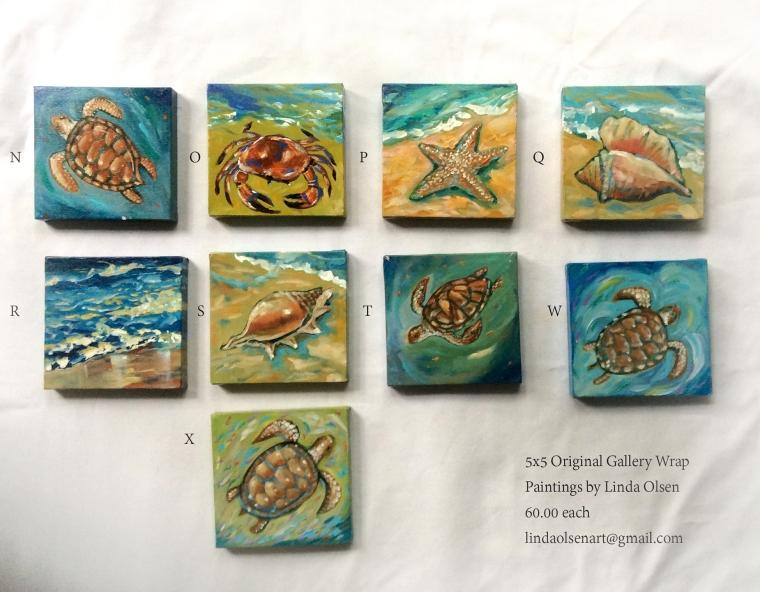 Sea Life 5x5 available
