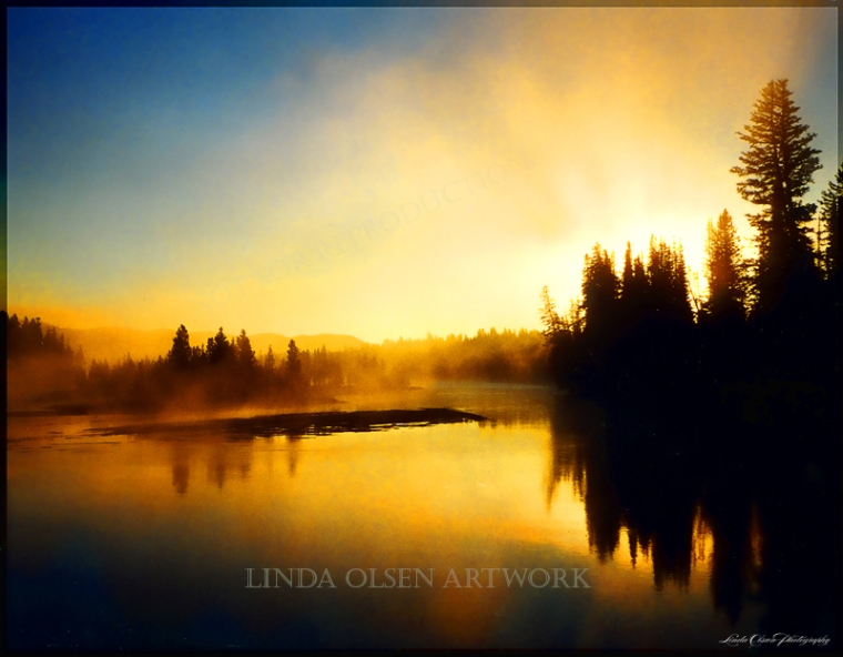 Yellowstone Morning lake