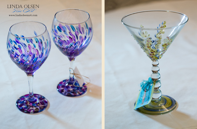 Purple wine goblet