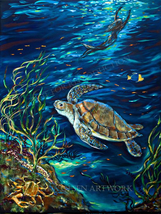 Underwater Friends 36x48