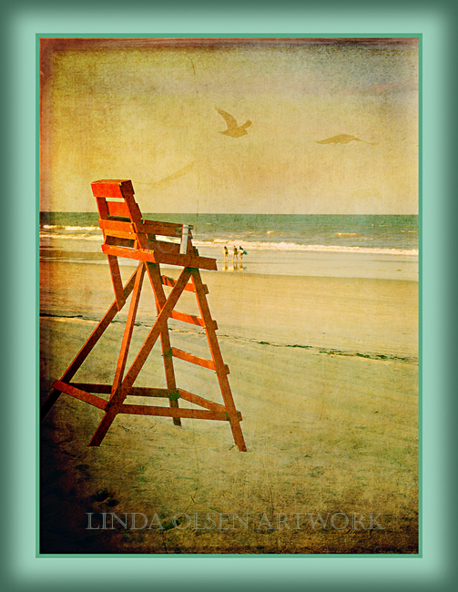 Here are photographic illustrations of our local red lifeguard chairs for the Jacksonville Beaches.