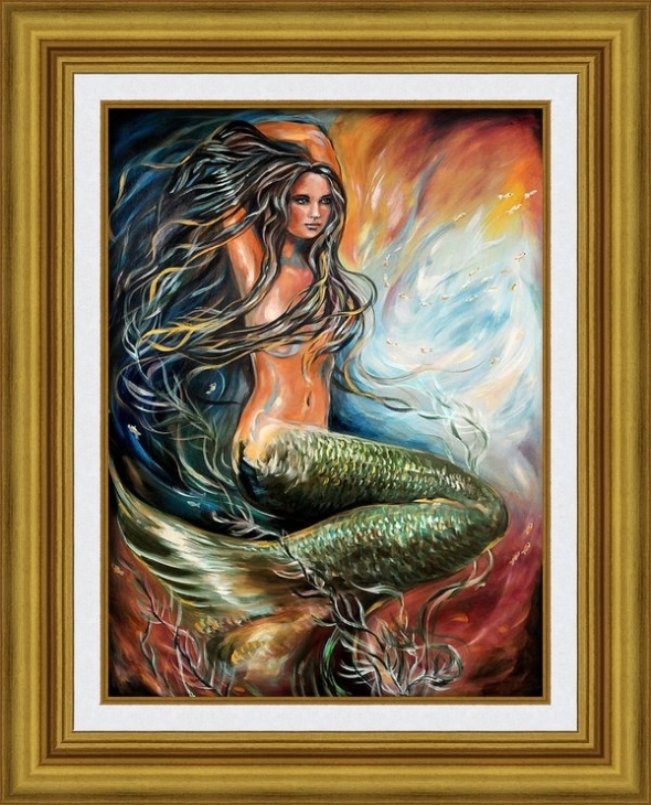 Sometimes, people interested in a particular piece of art but cannot afford the original so offering prints on various materials is a good way to allow a person to enjoy art. I just sold a print of this mermaid. SO happy for the sale.