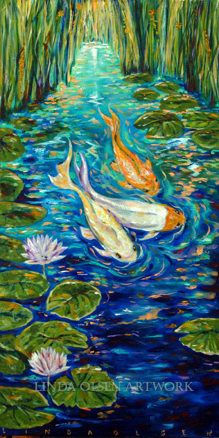 Water for Koi artwork on canvas