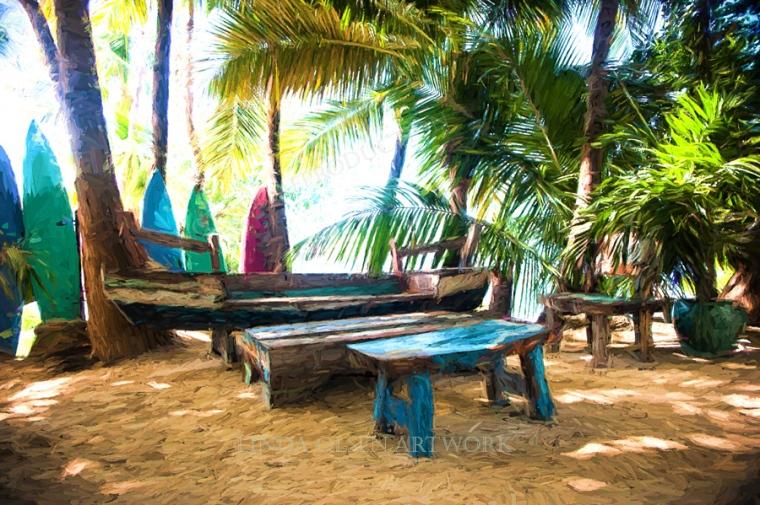 Morada Bay benches