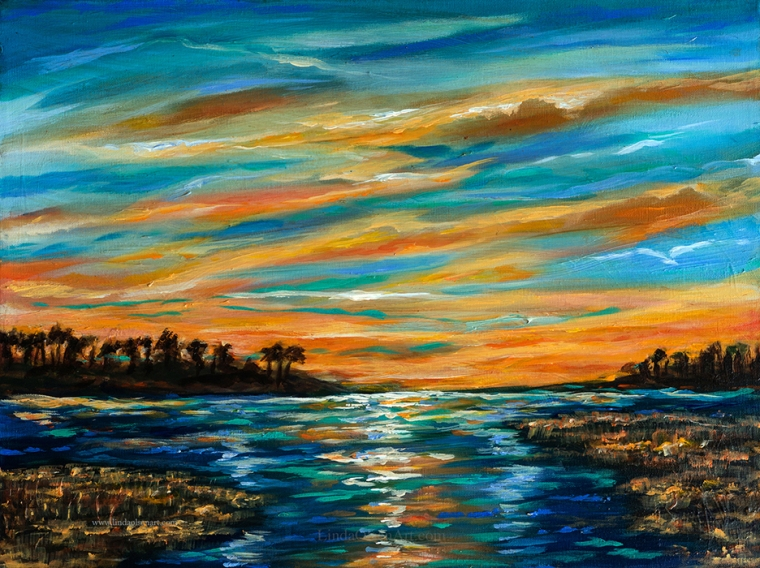 "Tonight I was invited to set up a booth in Nocatee, Florida where they are having an auction social to raise money for the K9 Wounded Warrior program. I have donated a 24x18"" original painting to help this great cause. Hopefully patrons will also become interested in purchasing additional artwork form me or the other 7 artists involved in this event."