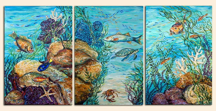 Over the years, I have painted sea turtles and care about their fragile plight to survive. First Street Gallery has helped the local Sea Turtle Patrol who fence off the baby sea turtle nests so that beach goers do not mess with the nests. These are the remaining paintings that are still available for sale and I pledge to donate a portion to the Sea Turtle Patrol of Jacksonville Beaches. Let me know if you are interested by emailing me at lindaolsenart@gmail.com. All are on sale as well.