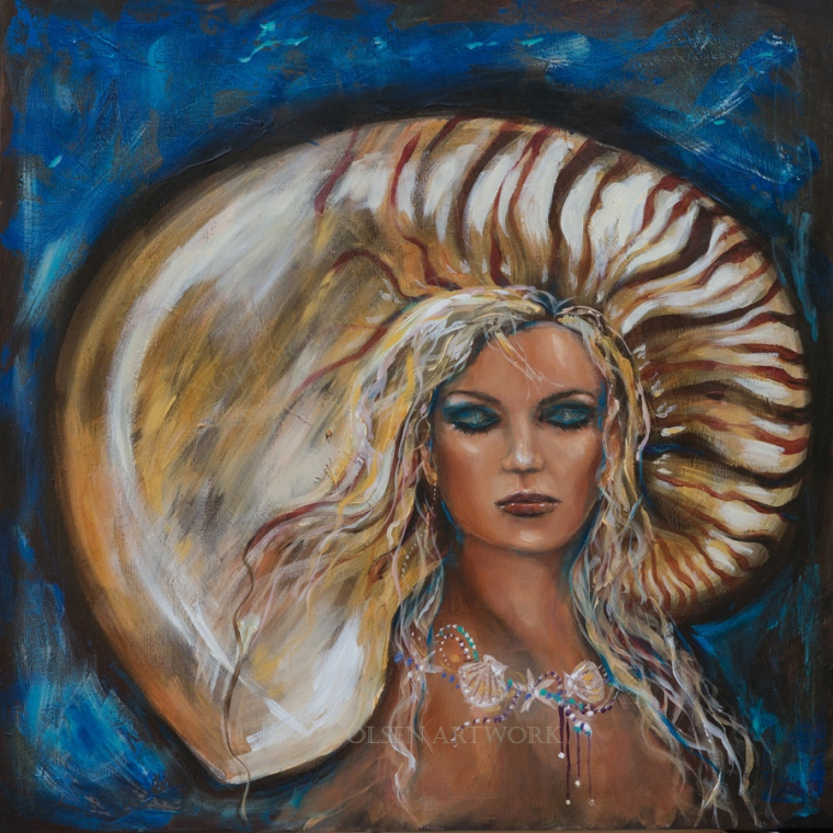 "Sometimes when paintings have been in galleries or at shows, small nicks appear on edges of canvas so I took the opportunity to freshen up. I added a bit more eye shadow on the mermaid called ""All Dressed Up"" 24x24 gallery wrap and darkened edges and re varnished. On the marsh scene "" River Reflections"" 20x20, I toned down the browns and added burnt sienna and some birds in the sky were added. Small tweaks are good! Both are available for sale."