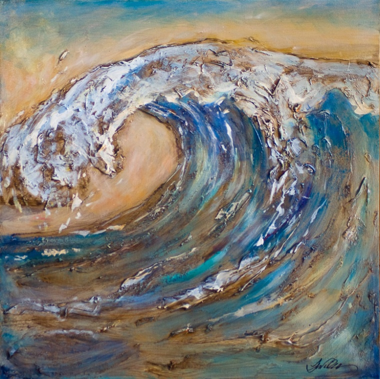 Giant wave 24x24 sold