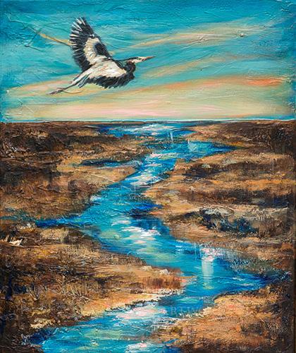 Great Blue Heron 20x24
