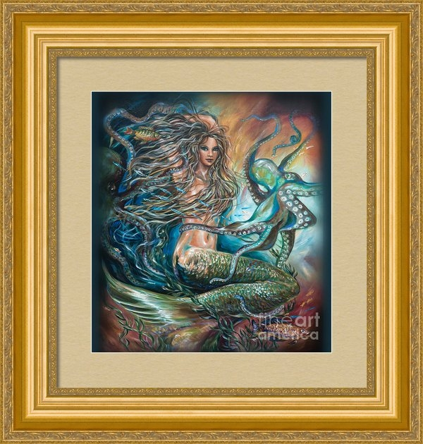 "A client from New York purchased this framed canvas of ""Entangled."""
