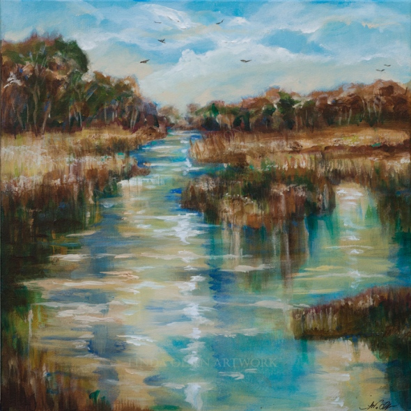 River Reflections 20x20