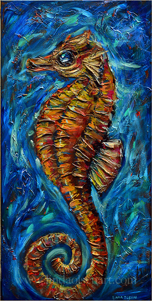 Sea horse15x30sold