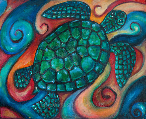 Sea Turtle Mosaic 24x20