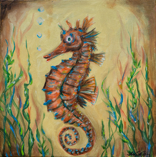 Seahorse Curl 12x12