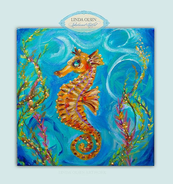 Seahorse oranges 8x8x