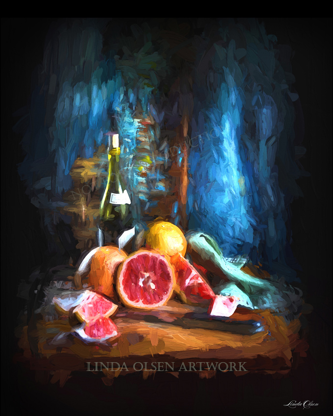grapefruit still life ti i