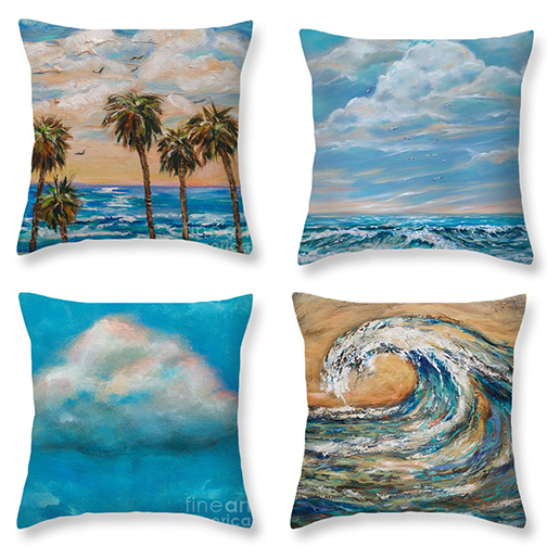 "Fineartamerica.com now produces custom pillows with any of my artwork printed on them. You can choose from 14x14"" to 26x26"". CHeck out lindaolsen.artistwebsites.com and order your accent pillow."
