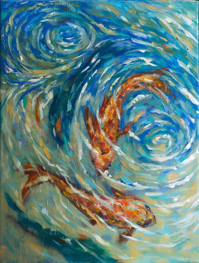 Swirling waters 18x24