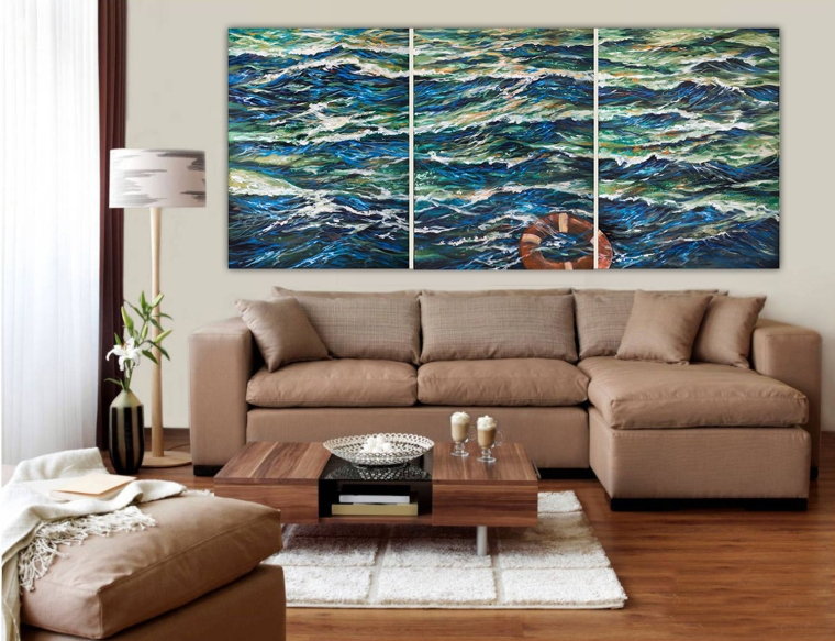It is always helpful to have a customer try a painting they are interested on their walls so a trip to deliver can help seal the deal.