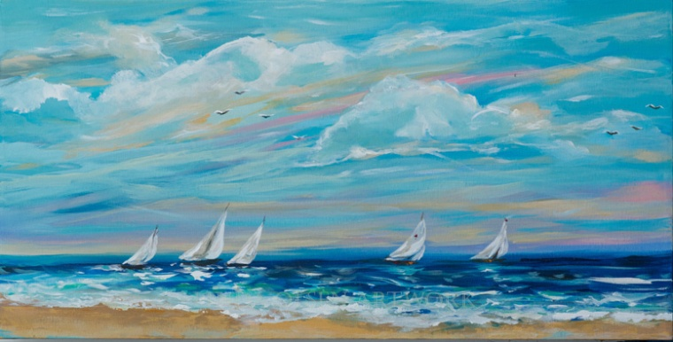 Sailing Close to Shore 30x15