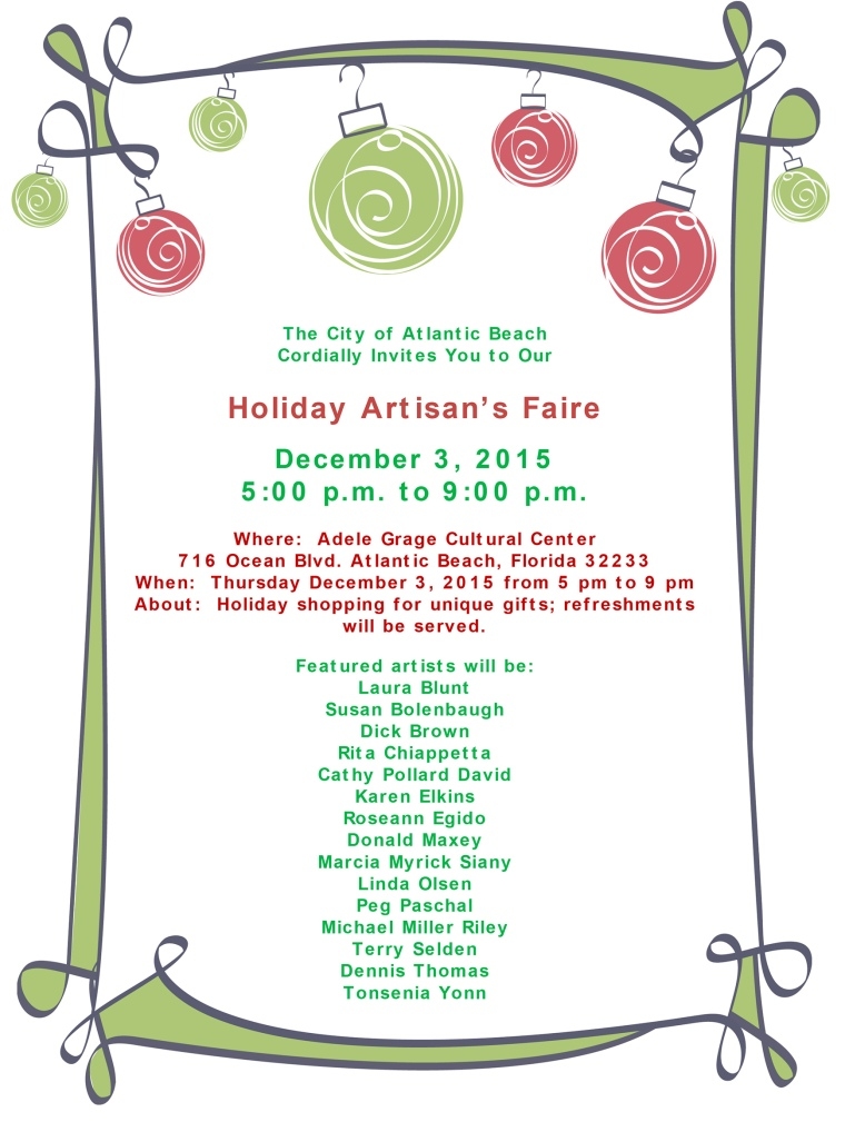 Microsoft Word - Holiday Artisan Faire 2015.docx